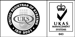 Logo Qualità ISO-9001 UKAS URS